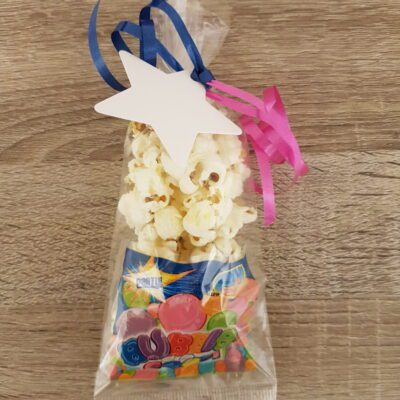 Popcorn met een mini bellenblaasje