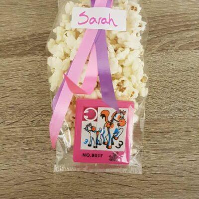 Puzzelspelletje traktatie popcorn