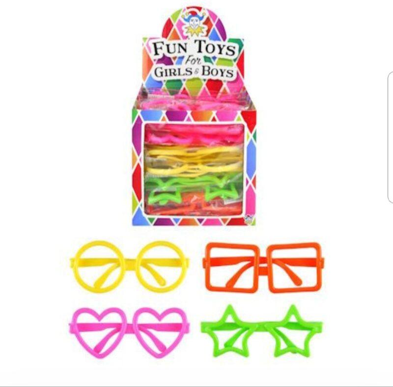 Gekleurde bril met ijsje