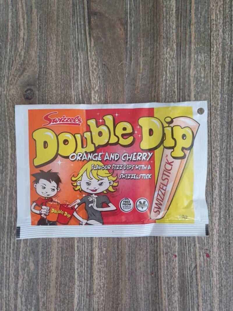 Double dip zakje met mini bellenblaasje