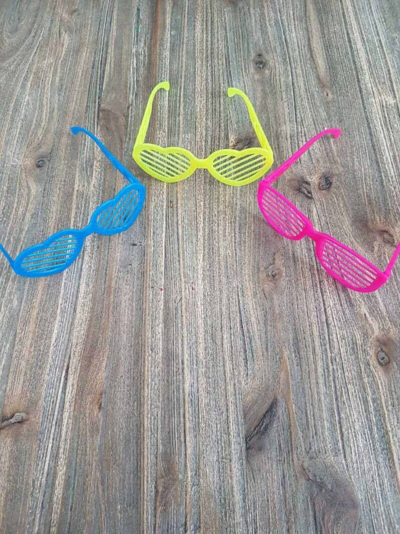 Gekleurde bril soepstengels